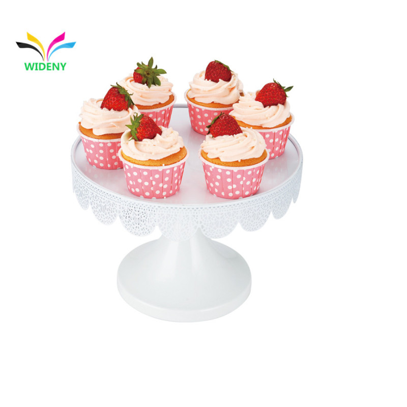 White powder coated party decorative metal cupcake stand