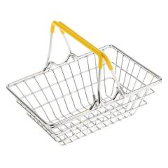 supermarket metal vegetables fruit storage stainless steel hand carry shopping basket