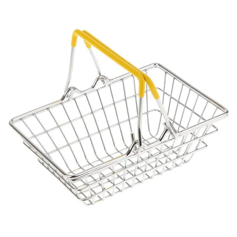 supermarket metal vegetables fruit storage stainless steel hand carry shopping basket