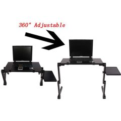 Wideny Multi-Angle Adjustable Laptop Stand with Heat-Vent, Ergonomic Portable Foldable Laptop Riser for Desk Compatible