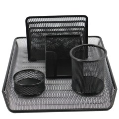 file organizer Metal Mesh Desk Accessories items list of office stationery set