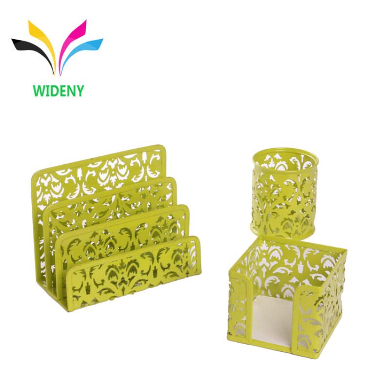 Wideny Office Wire metal 3pcs Letter Sorter Desk Stationery Set