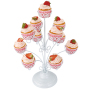 Bakeware new design flower wedding decorative metal white candy cup cake stand