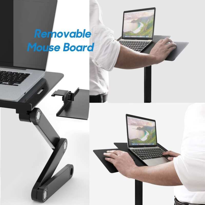Household Desktop Multi-functional Office Portable Table Foldable Metal Aluminium Adjustable Laptop Stand Home office Desk