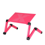 Fashion Office Home Sofa Bed Supply Black Aluminum Alloy Adjustable Foldable Office Computer Table Desk with Mouse Pad