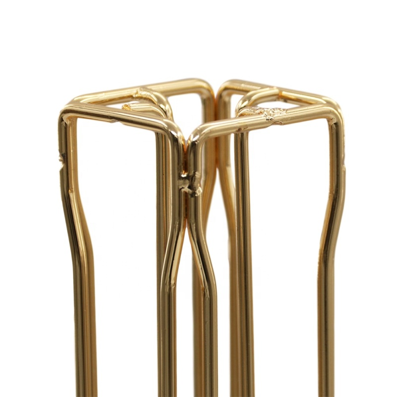 Gold plate nespresso rotating metal iron coffee capsule stand for home use