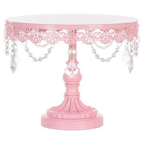 Home Birthday Party Decorating Round 3 Pack Pink Metal Iron Cupcake Wedding Cake Stand