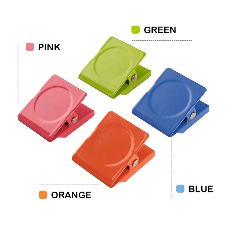 Wideny colorful Whiteboard Square Magnet Metal Clip Wall Magnetic Memo Note cilp