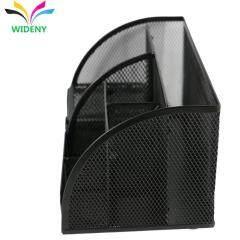 OEM design powder coated mesh wire metal steel table tray office desk organizer