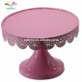 Round Wedding metal wholesale pink color cake stand