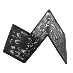 Promotional Stationery Office desktop metal elegant pattern business card stand for name card display