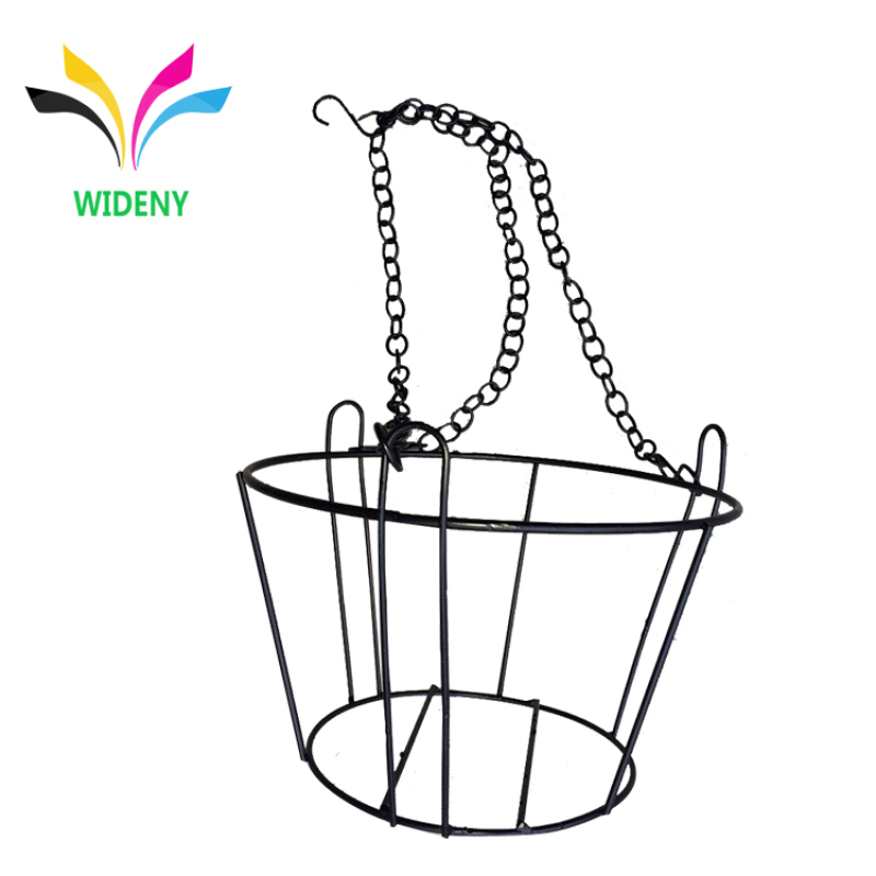 Garden use customized wall mounted hanging iron wire flower display rack