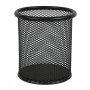 2pcs round custom wholesale stationery desk Pencil holder metal black mesh pen holder