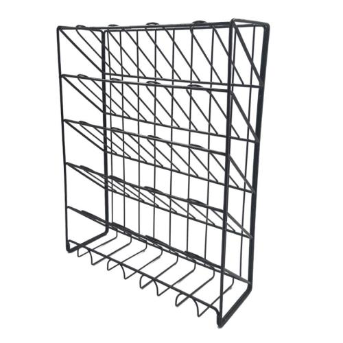 2018 new design luxury space saving office stationery hanging metal mesh wire steel iron wall organizer file holder