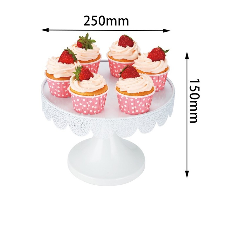 Party decorating fancy foldable pink china supplier iron wire plate candy bread metal steel tray wedding cupcake cup cake stand