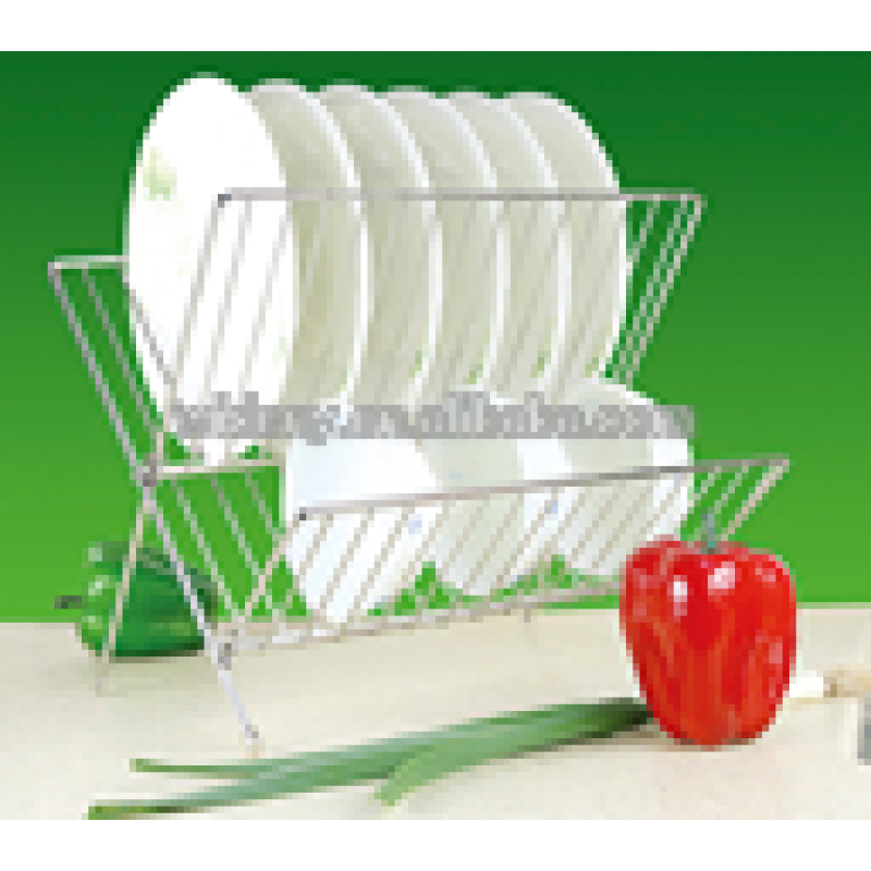 Wideny Best selling factory directly  Cook Pro Chrome plated home kitchen supply metal wire drying rack Folding Dish Rack