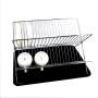Manufacture Kitchen Storage Organizer Spice Stand Holder Rack Shelf Sink Metal Display 2 Tier Dish Rack