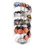 Iron Metal Chrome instant Rotating Nespresso dolce Gusto T pod Catiffity coffee capsules holder for rack display stand storage