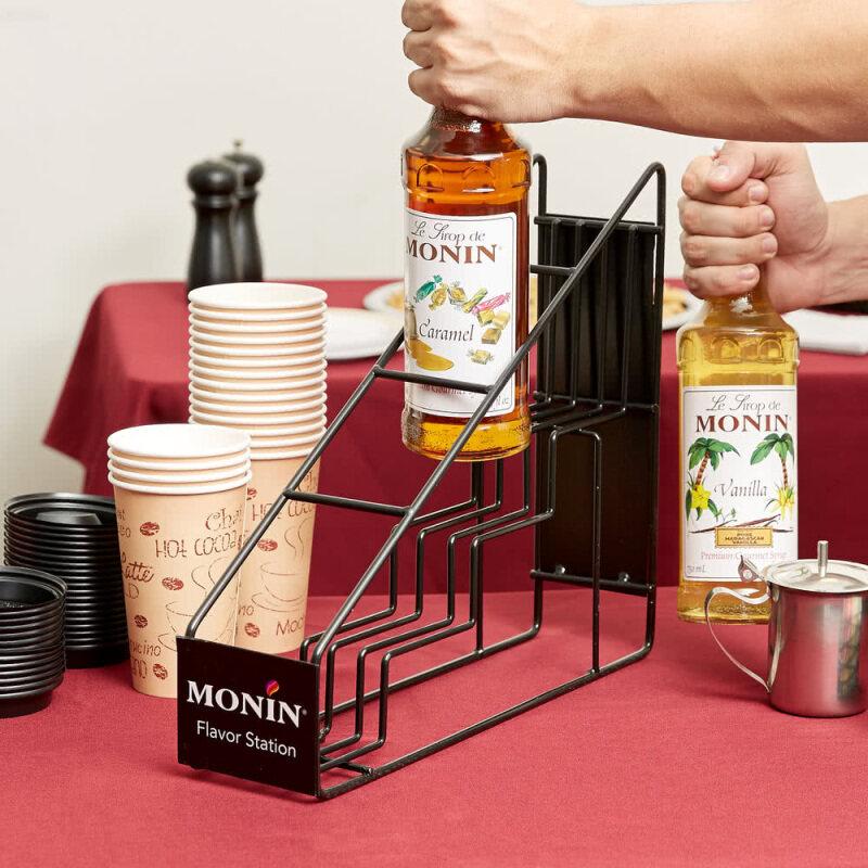 Metal monin syrup counter display rack