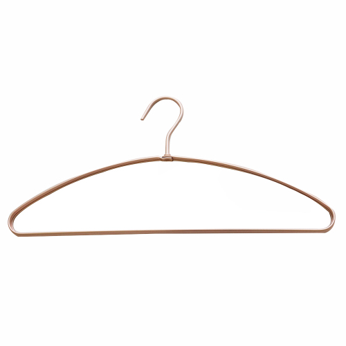 Retro Noble Temperament Semicircle Aluminum Alloy Rose Gold Cloth Hanger for Business Suit