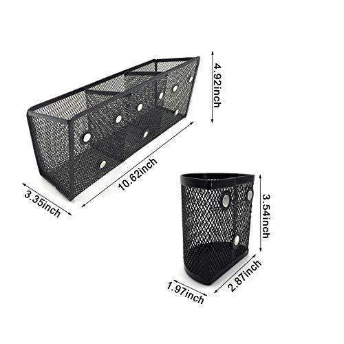 Office Stationery organizer Black Desktop Table Metal Wire Mesh wall fridge magnetic magnet clip pen holder