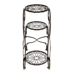 house outdoor planting decoration wedding party 3 tiers Round Chocolate electroplating metal iron flower stand