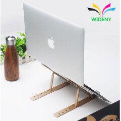 Wholesale Portable Folding Adjustable Support Notebook Computer Bracket Movable Desk Silver Aluminium Metal Laptop Stand