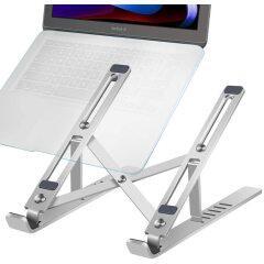 Amazon Desktop Adjustable Portable Foldable Ergonomic Aluminium Laptop Stand for Household Working Book Phone Desk Holder