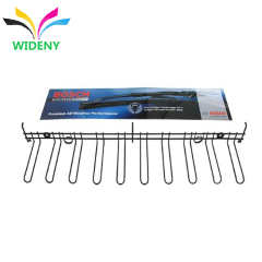 Wall hanging metal wire auto parts wiper blade display rack