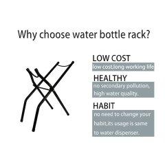 factory customized metal rack wholesale water dispenser 5 gallon water bottle holder