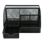 Wholesale Custom Office metal mesh wall black desk organizer with drawer
