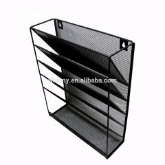 Wideny Office school home household storage wire metal mesh wall mount mounted file hanging organizer