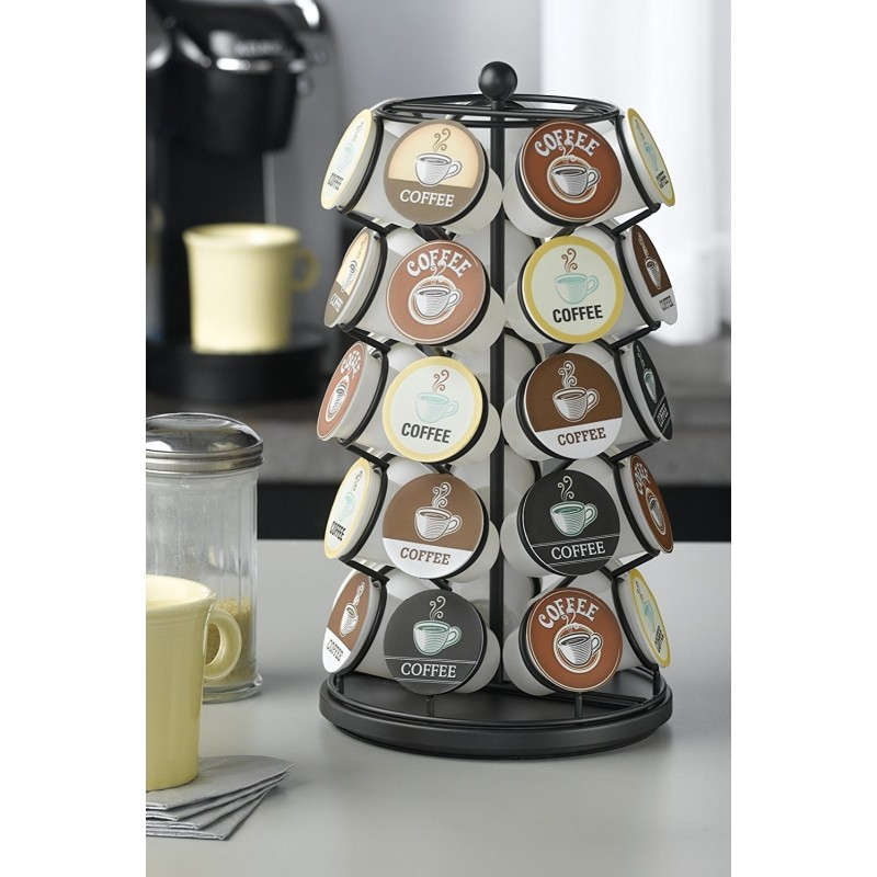 Coffee pagoda station more than 24 cool coffee capsule rack 360 degrees rotated antiskid base