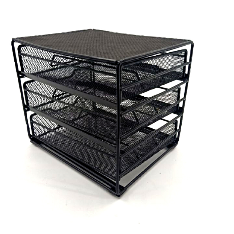 WIDENY 3 Tier 48 Dolce Gusto K-cup Black Metal Iron Wire Capsule Storage Drawer for Holder Coffee Pod