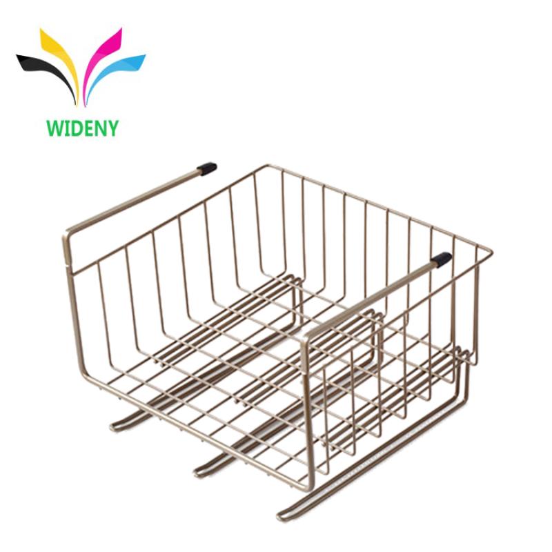 Multifunctional Home Kitchen Wire Closet Hanging Under Shelf Storage Baskets