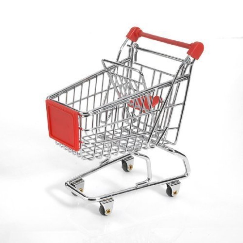 High quality customized supermarket metal baby toys shopping trolley cart