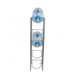 Wholesale 5-tier heavy duty water bottle holder metal 5 gallon water bottle storage rack