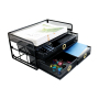 Office Supplies Home Use Metal Mesh Black Storage Box File Document Letter Desk Organizer Drawer for Pen Pencil Holder