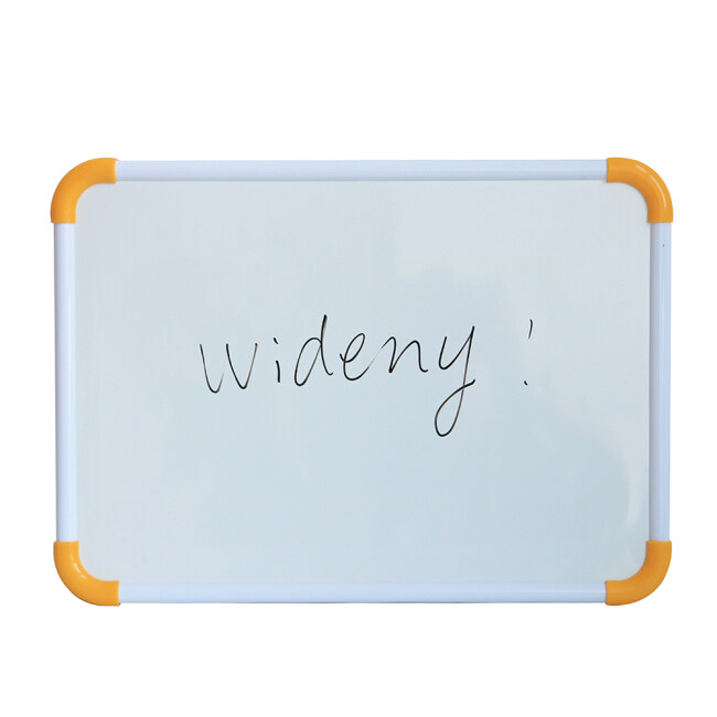 Aluminium Frame belt hook Double Side Kids Lapboard Magnetic White Board for 2 Inch Felt Erasers And Black Dry Erase