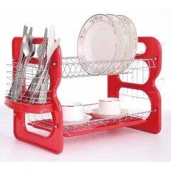 Manufacturer B Shape Cheap Home kitchen Red Modern Small Plastic Dish rack