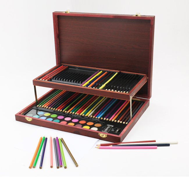 hot selling watercolor portable 123 gallery drawing paintbrush art set for adults