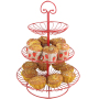 Custom Kitchen hot sale wrought iron cradle 3 tier fruit basket stand With Handle