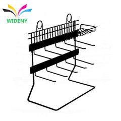 Store accessories fancy design custom package counter desktop wire metal hanging earring display rack