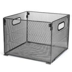 Amazon Office Desk Metal Mesh Foldable Storage Crate Folder File Organizer for Home Letter Box Holder Rack