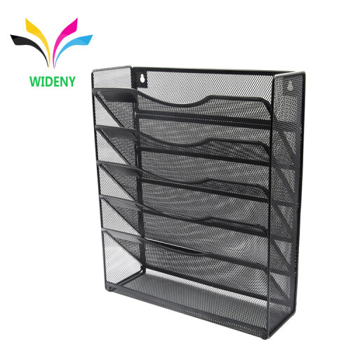 High Quality Promotional Stationery Holder Office Desk Mesh Metal Tool File Hanging Mount Wall Organizer