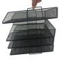 Free Pen Holder Accessories Stackable Paper Trays File sorter desk organizer 4 tier Black Mesh mesh document tray