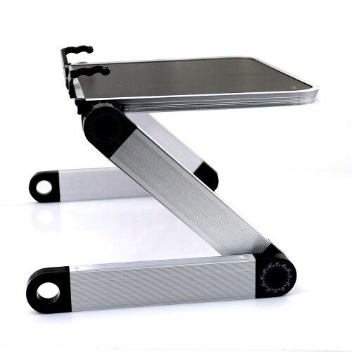 MDF Desktop Foldable Laptop Stand, Computer Table Adjustable Height Aluminium Leg Adjustable Laptop Stand