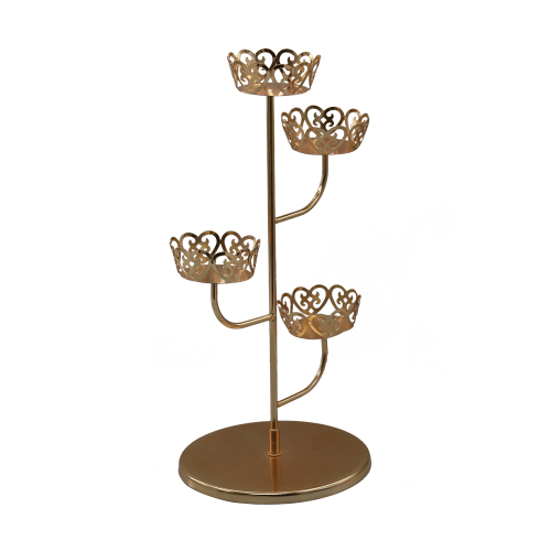 Wideny supply Home Party Kit Rose Gold Metal Wire cupcake stand for holder wedding cake