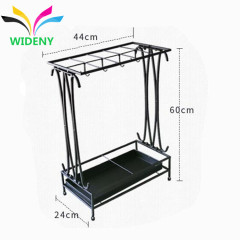 Custom design Home Garden hotel indoor or outdoor cheap metal iron wire foldable folding umbrella display stand for holder