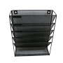 Hanging wall file metal mounted desktop table office organizer for document holder